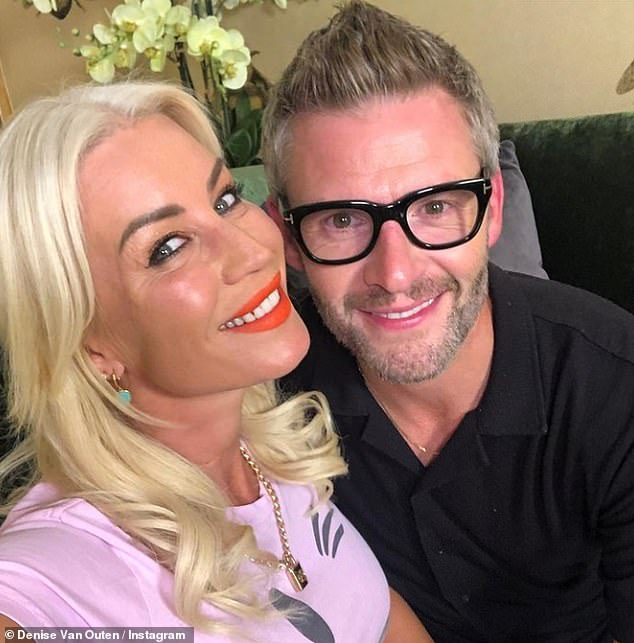 'We're like a married couple already':Denise Van Outen revealed on Friday that she's postponed her wedding to partner Eddie Boxshall as she wants a grand celebration with NO restrictions
