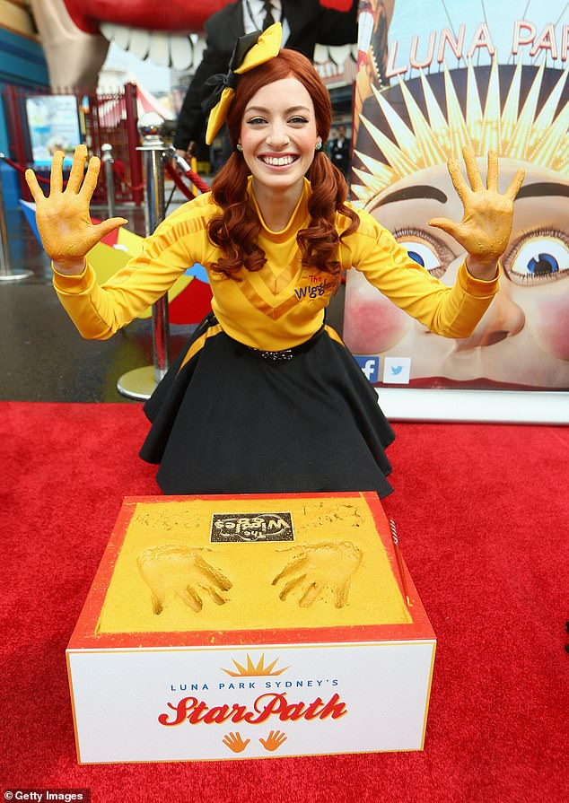 Struggle: Emma recently revealed how tough it was at times having to perform with The Wiggles.