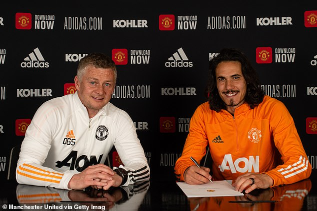 Cavani, 34, signed a one-year extension to his deal at Manchester United earlier this week