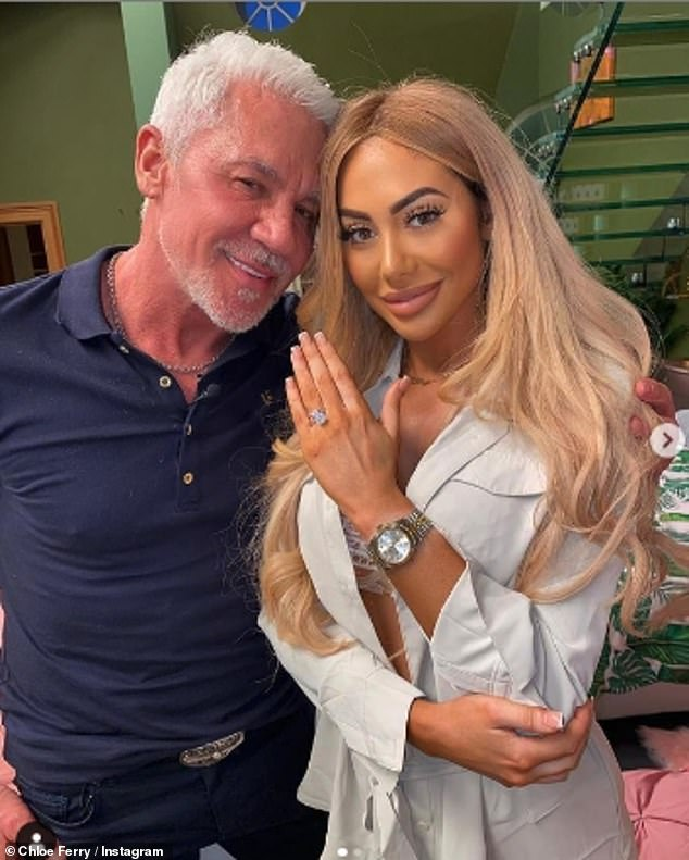 """'If Wayne could get his way and marry me he would"""": Chloe Ferry claimed on Monday that her flirty Celebs Go Dating co-star Wayne Lineker wants to marry her"""