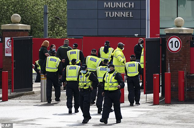 A large police presence was at Old Trafford for the Liverpool game with another protest staged