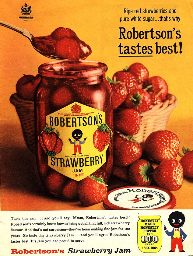 Shocking:Robertson's jam was axed in 2008 after becoming a symbol of controversy for its use of the Golly character