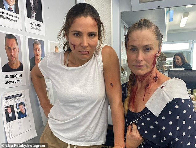 Realistic:In the images, Elsa, who plays the film's lead role of army lieutenant JJ Collins, is seen looking bloodied and bruised thanks to some very realistic special effects makeup