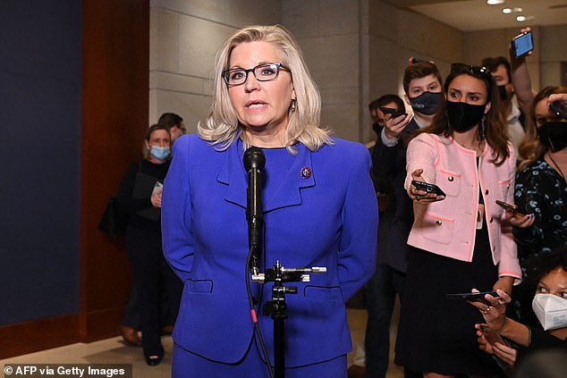 Rep.Liz Cheney accused Donald Trump of echoing Chinese communists when it comes to democracy, keeping up her criticism of former president
