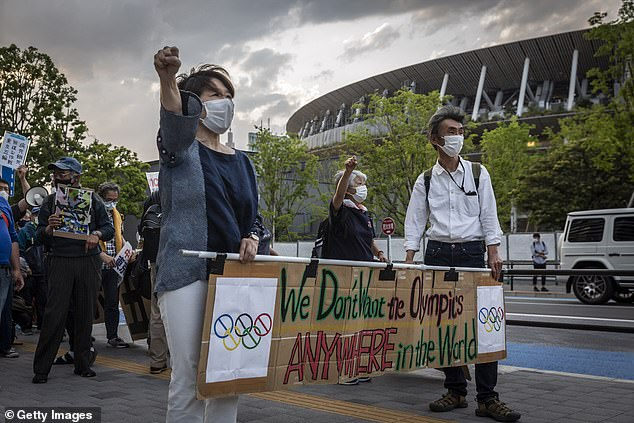 A recent study has shown 59.7 per cent of people want the Olympic Games to be cancelled