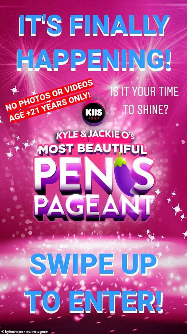Muzzled: On Monday, Sandilands bemoaned the fact the Most Beautiful Penis Pageant was only a sanitised version of the grand extravaganza he'd originally planned last year