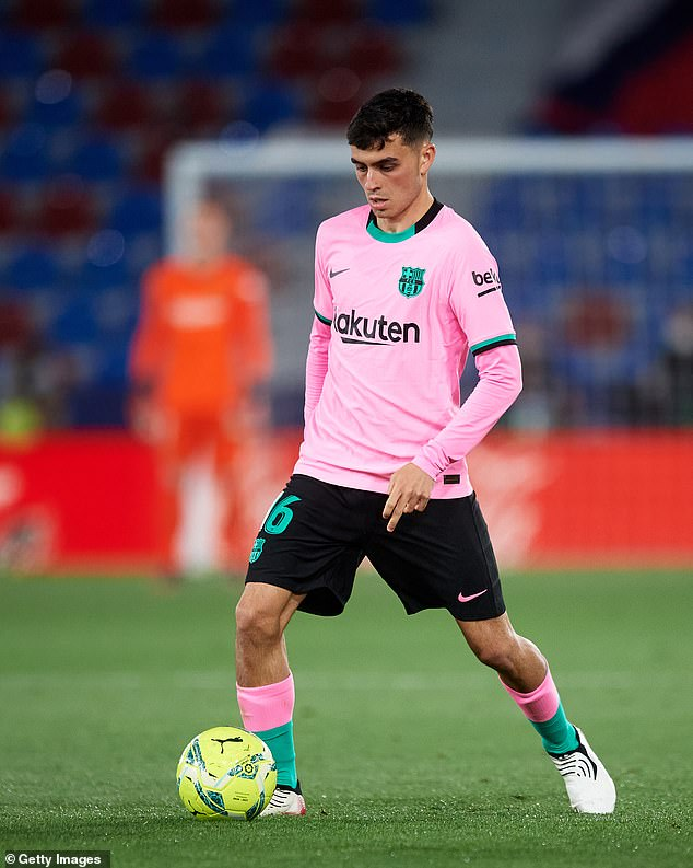 Pedri, 18, has been Barcelona's breakout start this season but he has been given to much to do
