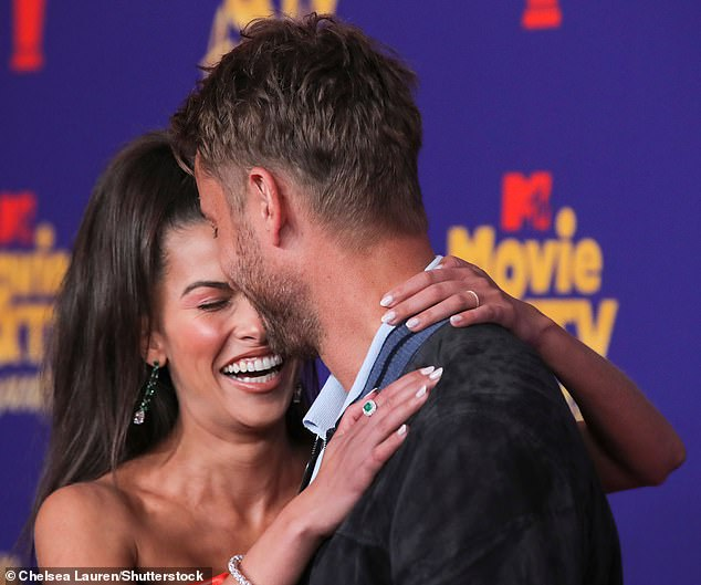 Overjoyed: The MTV Movie & TV Awards was the first event where they walked the red carpet together and they were snuggled up into each other's arm for much of the time