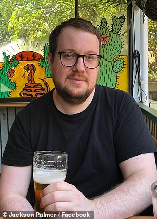 Dogecoin co-creator Jackson Palmer (pictured) branded Elon Musk a 'self-absorbed grifter' after the Tesla CEO caused the meme-inspired cryptocurrency's value to plummet by calling it a 'hustle' on Saturday Night Live