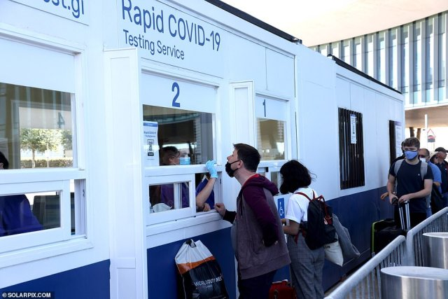 First British holidaymakers tested with Covid PCR on arrival at Gibraltar airport