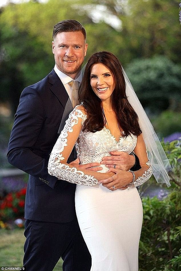 TV romance:Tracey rose to fame in season five of Married At First Sight where she was paired with Dean Wells [left]