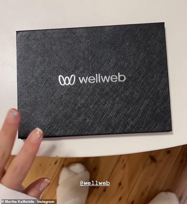 Health-focused: Martha received a lifetime membership to Well Web