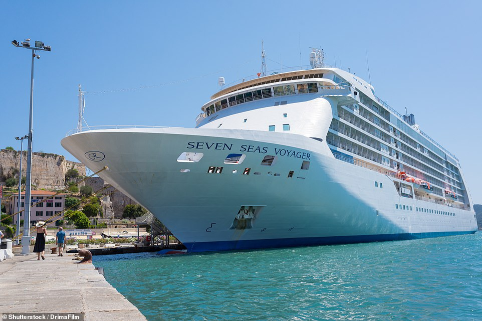 The Seven Seas Voyager (pictured in Tuscany), one of fourmedium-sized luxury ships owned by Regent Seven Seas