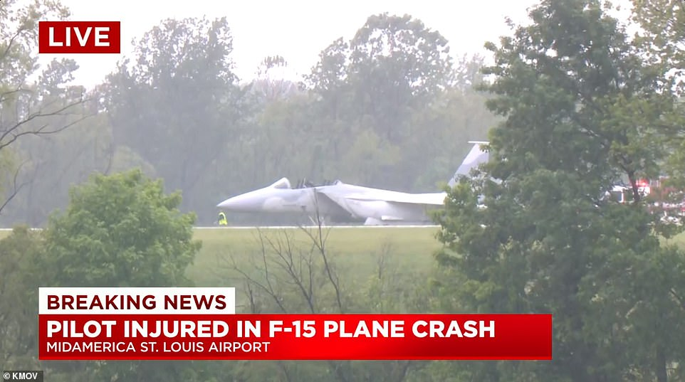 The plane was on the ground when the pilots ejected, Fox2 reports=