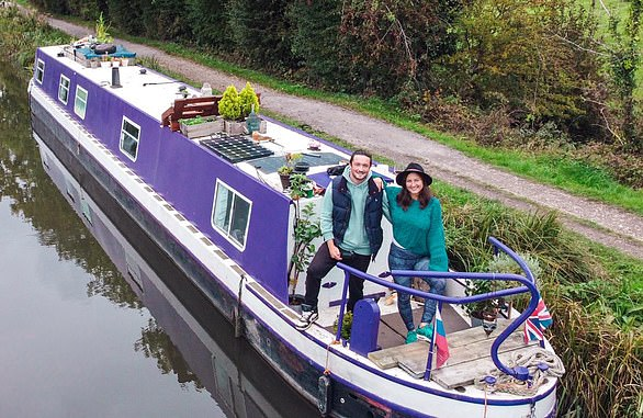 Marina Popova and Myles Jackson bought their boat, Alba, for £35,000 using savings and a loan.