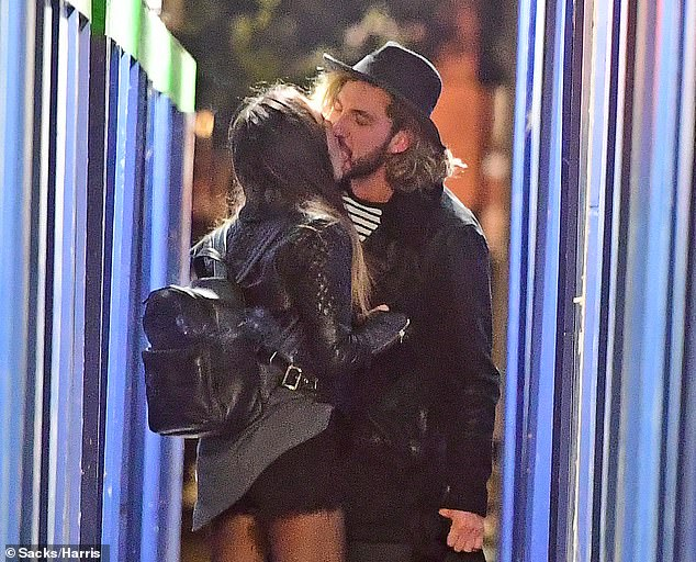 Fling:The pair were seen kissing at the Duke Of York pub in Marylebone in Central London in October 2018.