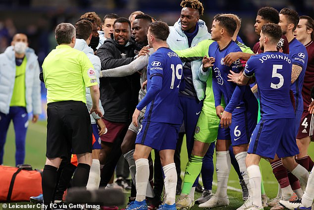 Chelsea and Leicester have been fined £22,500 by the FA for last month's mass brawl