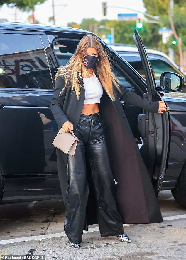 Commanding attention: The model arrived in style to Craig's, which is a popular celeb hotspot