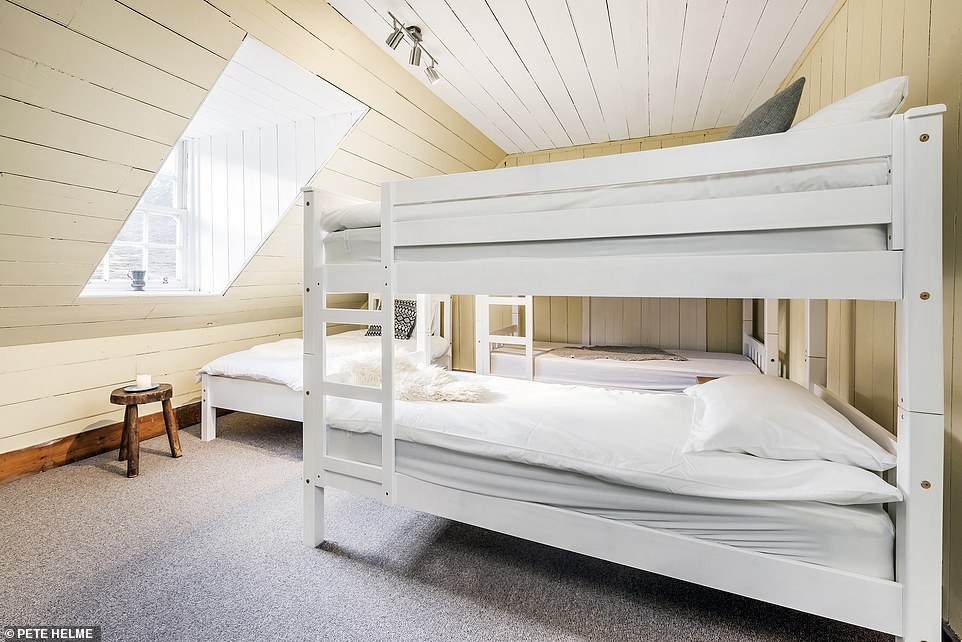 Self-catered Deanich Lodge sleeps a maximum of 18 in five bedrooms, with a mix of bunk beds and single beds