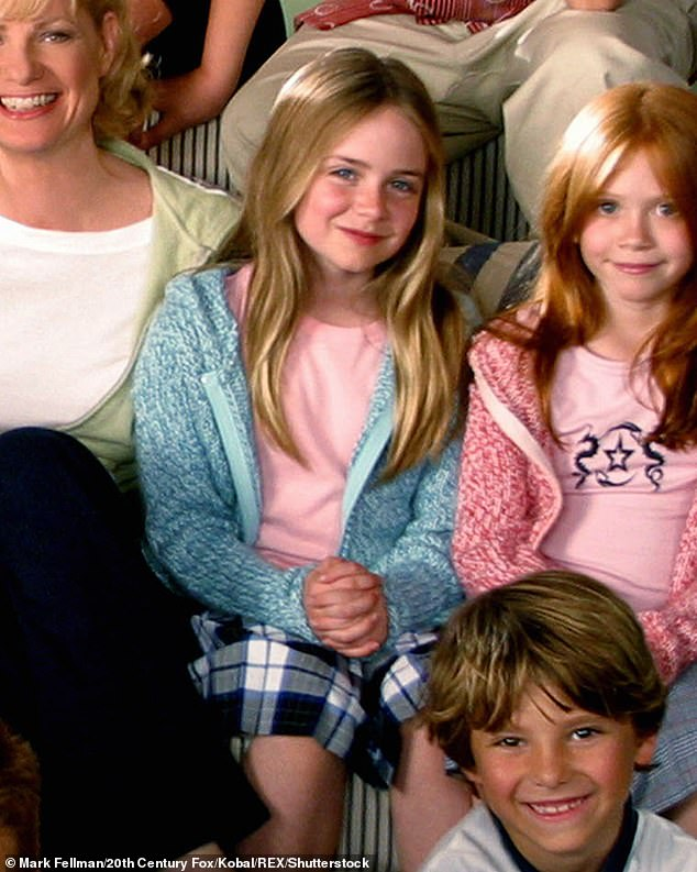Too many costs:'My passion for acting did not outweigh all the costs, like all the time you have to spend away from loved ones on sets and the constant scrutiny from people watching you,' she continued; Morgan pictured in Cheaper By The Dozen (2003)