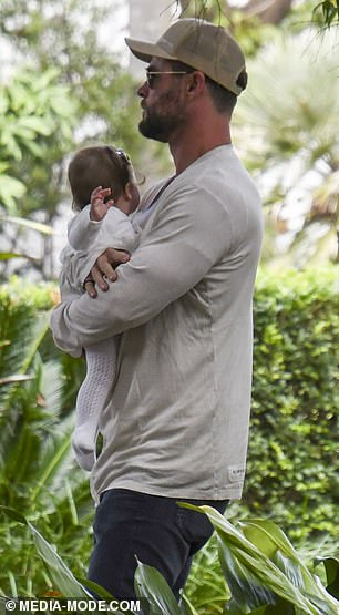 Doting: The 37-year-old doted on his best mate Aaron Grist's daughter Chloe