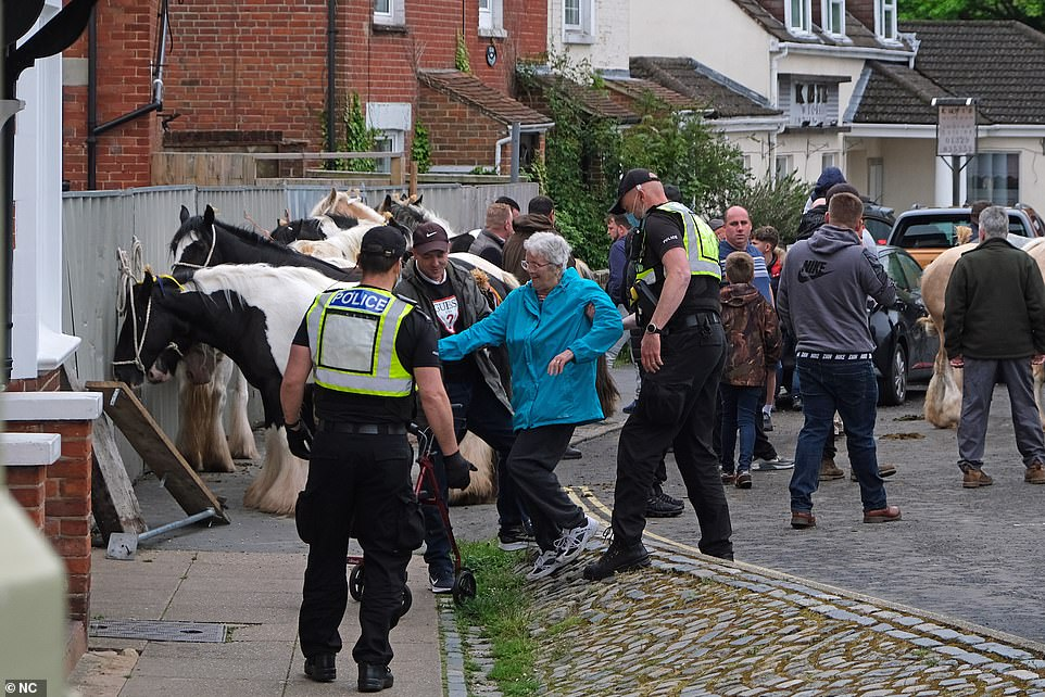 The historic horse fair was cancelled for a second year in a row - with travellers defying the attendance ban also for a second year running