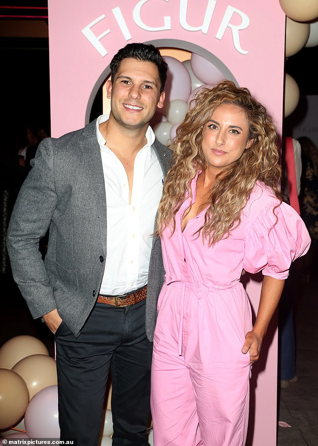Power couple: MAFS alum Kerry Knight andJohnny Balbuziente also made an appearance at the event with them dressed to the nines
