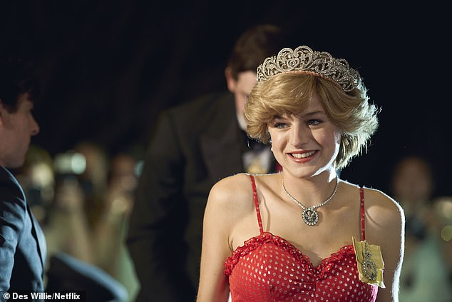 Praised: Emma earned critical acclaim for her role as a young Princess Diana in The Crown's fourth series last year