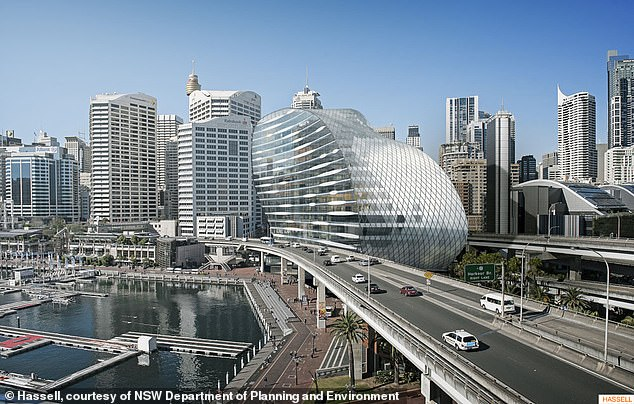 The $700million-plus luxury W Hotel at Darling Harbour is managed by Marriott and owned by the Chinese-backed Greaton Group