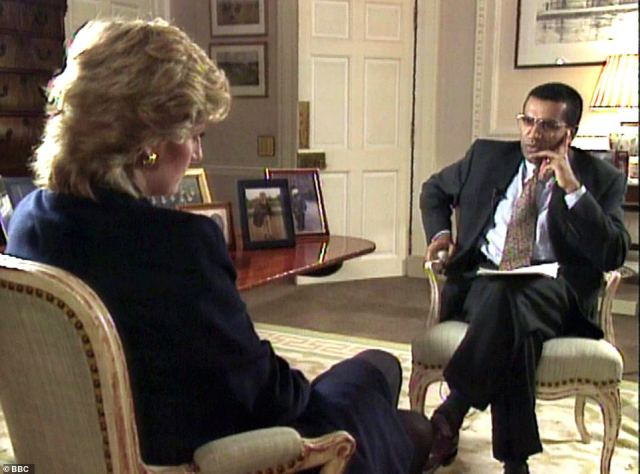The letter was written by Princess Diana to journalist Martin Bashir and related to her bombshell 1995 Panorama interview