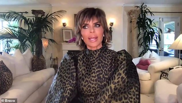 Meet and greet: Lisa Rinna revealed she met her daughter Amelia's much older boyfriend Scott Disick during a recent appearance on Watch What Happens Live