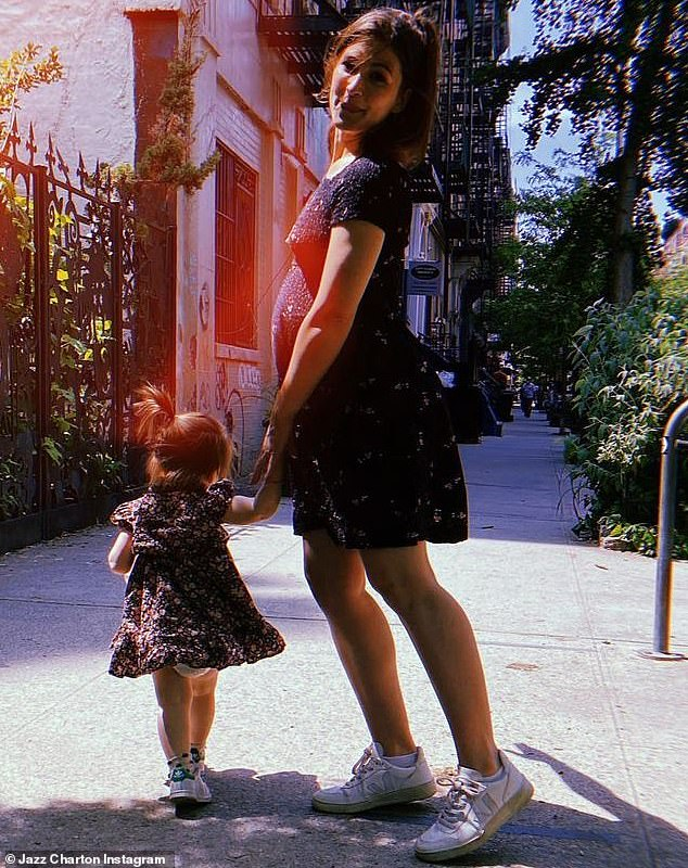 So sweet: Succession star Kieran Culkin's wife Jazz Charlton revealed on Instagram this Thursday that she is pregnant again in an album with their daughter Kinsey, one