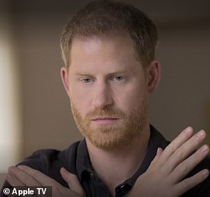 Fearful:Prince Harry told the documentary, released on Friday: 'For most of my life I've always felt worried, concerned, a little bit tense and uptight whenever I fly back into the UK, whenever I fly back into London'