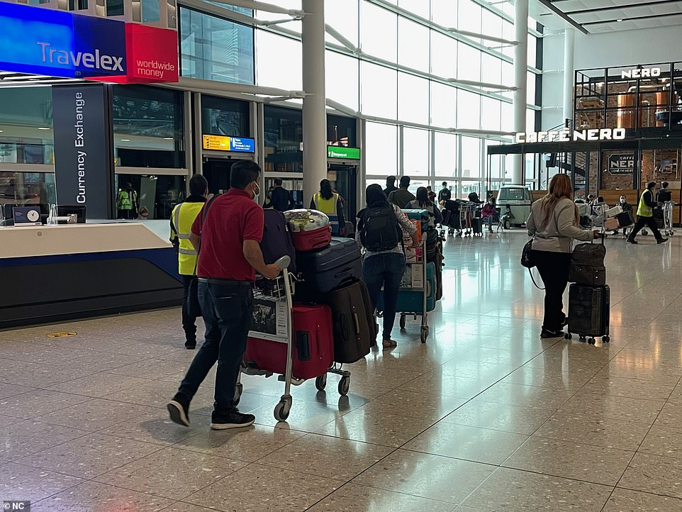 Terminal 3 will not be solely for red list passengers for another 11 days when it comes into action on June 1, with the airport (pictured today) saying the change will be 'logistically very challenging'