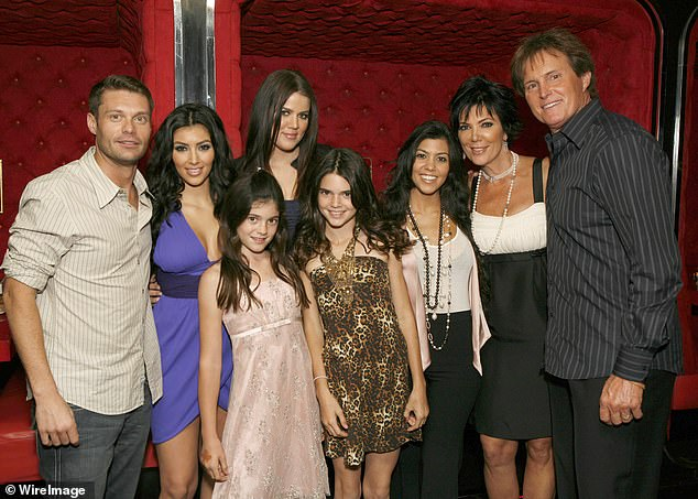 Where it all began: Above the Kardashians are seen in 2007 ahead of it airing on E! for the first time