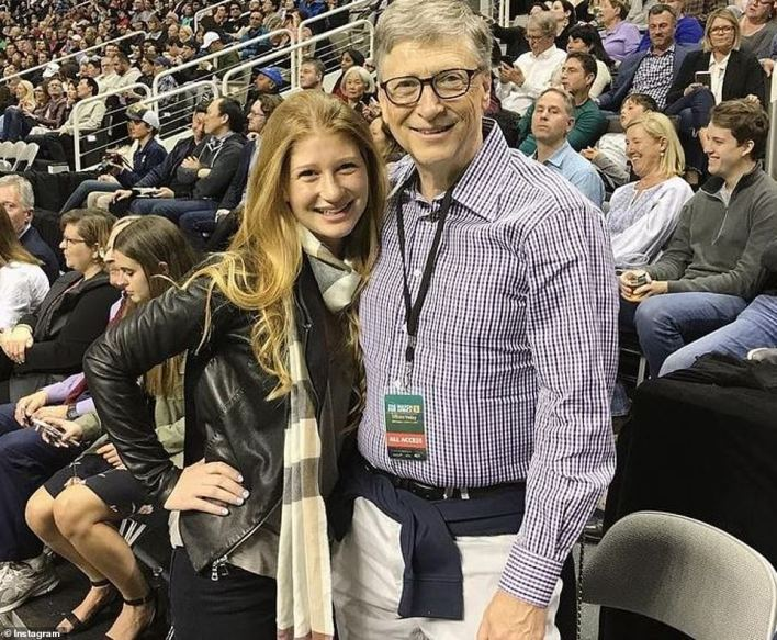 Father-daughter time: Jennifer is pictured with her dad in 2018