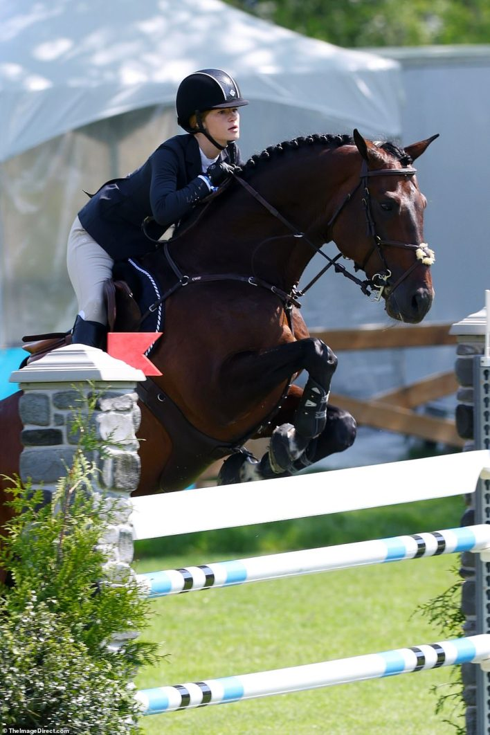 Rich parents:Georgina Bloomberg, the 38-year-old daughter of former New York City mayor Michael Bloomberg, also competed in at Old Salem Farm this week (not pictured)