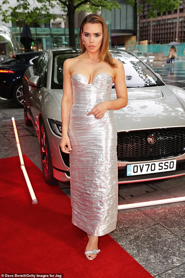 Stand out from the crowd:The actress, 38, looked sensational in her strapless outfit as she marked her directorial debut with the new film at the Everyman Broadgate theatre