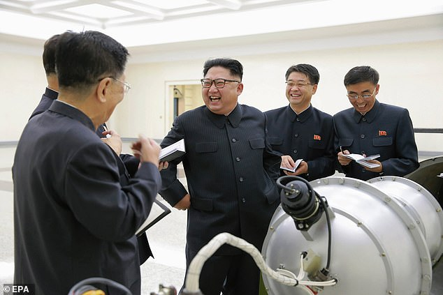Kim Jong-un, the North Korean leader, is seen in 2017 at a nuclear facility in the country