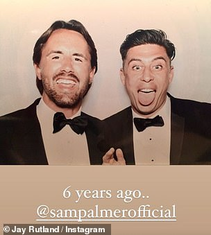 Memories: The identical snap showed the pair pulling the same faces as the recent picture