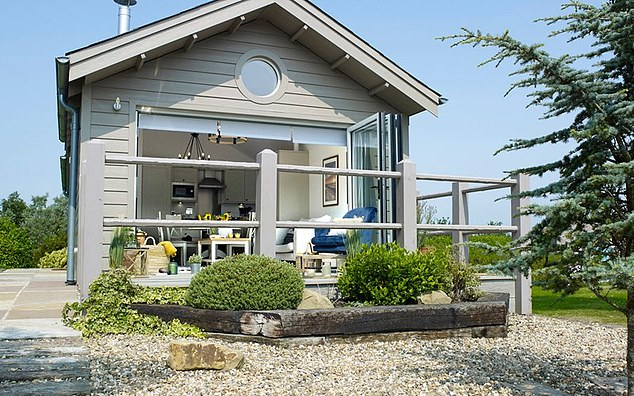 Pictured is one of the New England styled beaches houses at The Bay Filey, Yorkshire