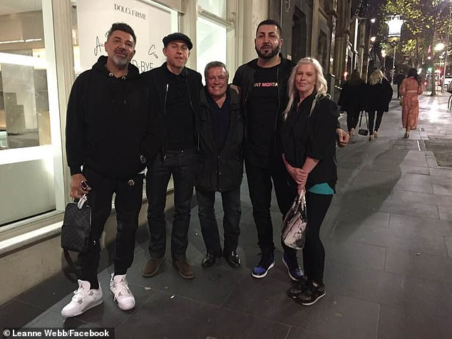 Say cheese:The 41-year-old actor head out to the venue George On Collins with some friends, and was kind enough to pose for selfies with fans, including one lucky lady, Leanne Webb, who got several photos with the star