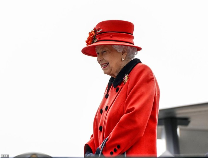 The Queen is still mourning the loss of her beloved husband of 73 years, who sadly passed away on April 9 aged 99, and paid tribute to the Duke of Edinburgh on Saturday by wearing a scarab brooch (pictured) which was gifted to her by him