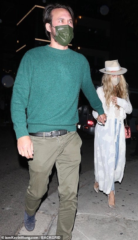 Date night: Kate Hudson and boyfriend Danny Fujikawa seen arriving to Kendall Jenner's star-studded 818 tequila launch party at the Nice Guy in West Hollywood this Friday evening