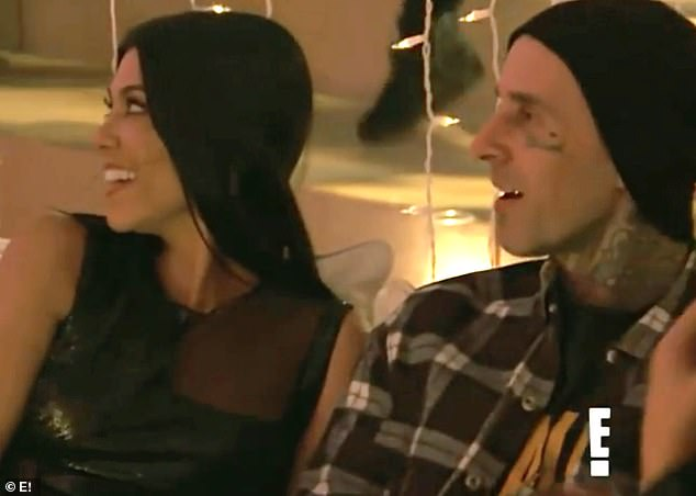 Hot couple:The 46-year-old shares her children with her ex-husband Travis Barker who has been involved with Kourtney Kardashian for months