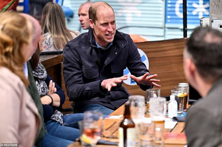 It's not known was tipple William enjoyed but there were several pints on the table in front of him
