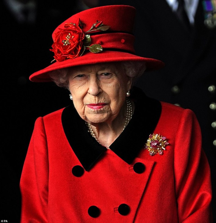 Meanwhile, Her Majesty was welcomed on board Royal Navy flagship HMS Queen Elizabeth ahead of its operational deployment to the Indo-Pacific region