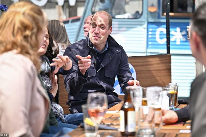 Of his sternly unboastful grandmother, Prince William (seen yesterday) has said: 'She cares not for celebrity, that's for sure.' Yet the paradox of her fame has seen her sustain for an unprecedented seven decades an extraordinary global brand'