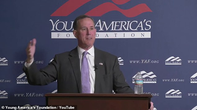 Rick Santorum, (pictured) a former Republican presidential candidate and senator for Pennsylvania, made his controversial statements about Native Americans during a speech at the Young America's Foundation, a conservative youth group, on April 18