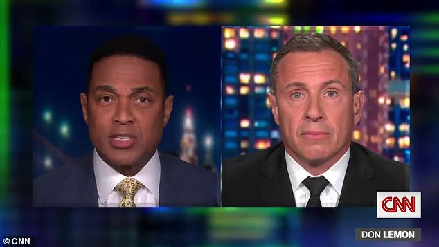 CNN host Don Lemon (left) was not impressed and tore into Santorum on 'Cuomo Prime Time' for not apologizing for his 'insulting' statements